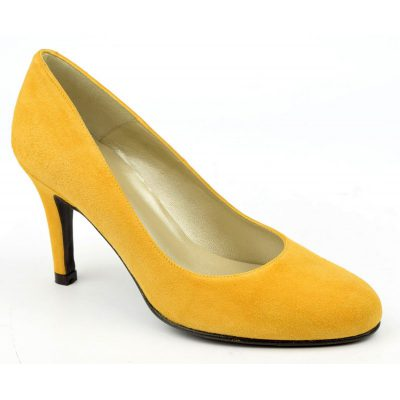 Escarpins Daim Brenda Zaro, ambre, Talon 8 cm, Delfina, F96559, escarpins 35