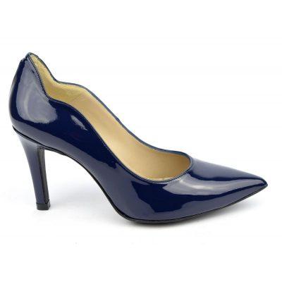 Escarpins cuir, verni bleu marine, Brenda Zaro, F1059A, téva, petits pieds