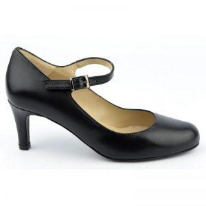 Escarpins brides petits talons, petits pieds, lisse noir