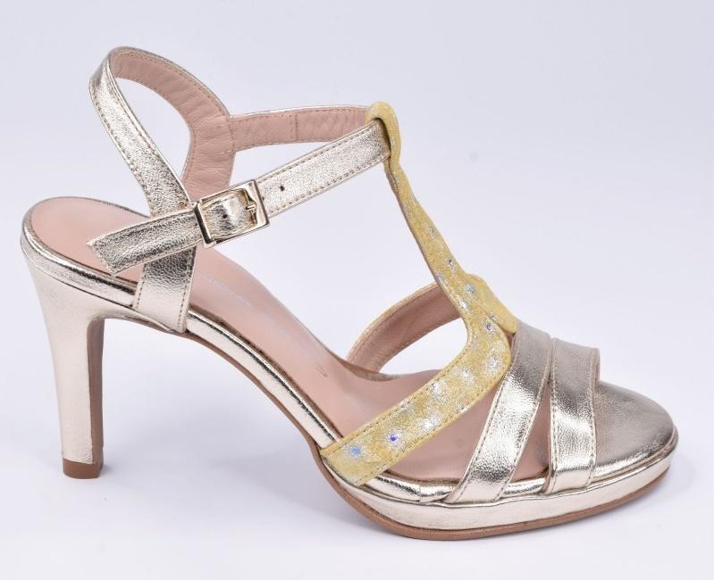chaussure femme petites pointures or été