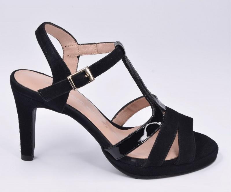 chaussure petites pointures daim noir été