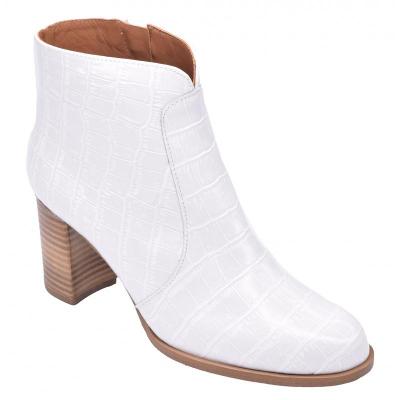 chaussures petite pointure petits souliers cuir croco blanc